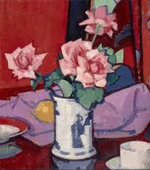 S.J. Peploe, Pink Roses, Chinese Vase